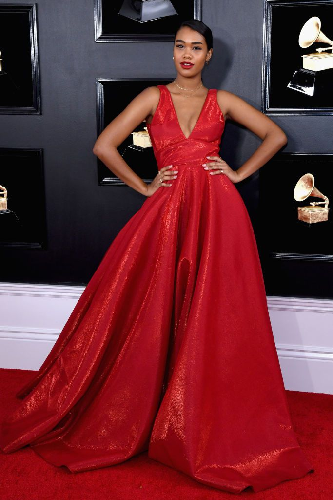 amber mark attends the 61st annual grammy awards at staples news photo 1097523554 1549844811