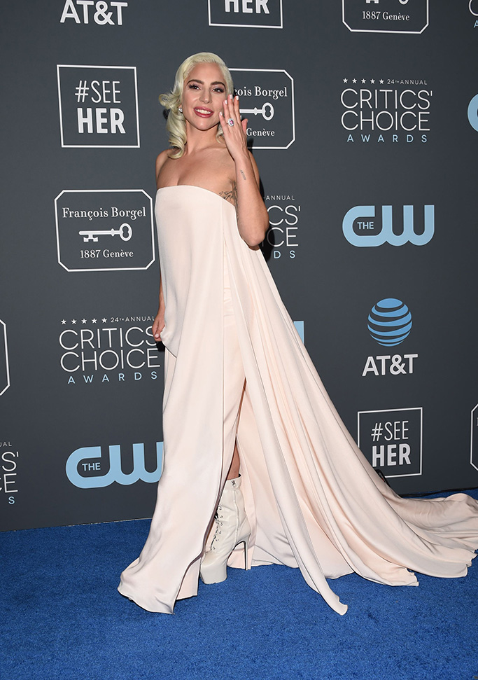 lady gaga critics choice awards boots 1