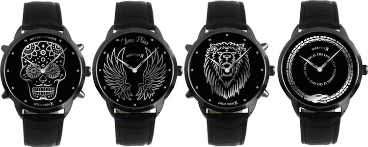 All 4 NVK Watch faces Skull Snake Lion and Wings