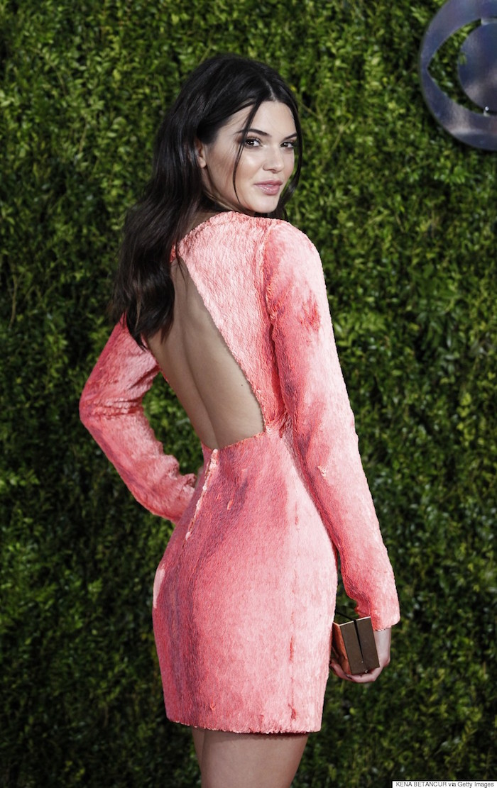 Reality television personality Kendall Jenner poses on arrival for the American Theatre Wing's 69th Annual Tony Awards at the Radio City Music Hall in New York City on June 7, 2015. AFP PHOTO/ Kena Betancur        (Photo credit should read KENA BETANCUR/AFP/Getty Images)