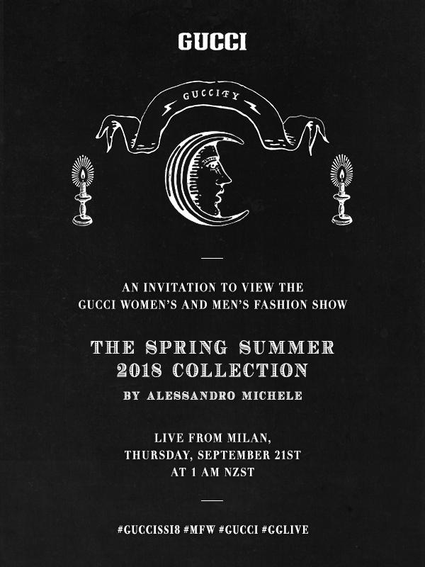 Gucci Live Stream Fashion Show