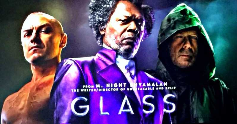 Glass Movie First Footage Description Poster Cinemacon