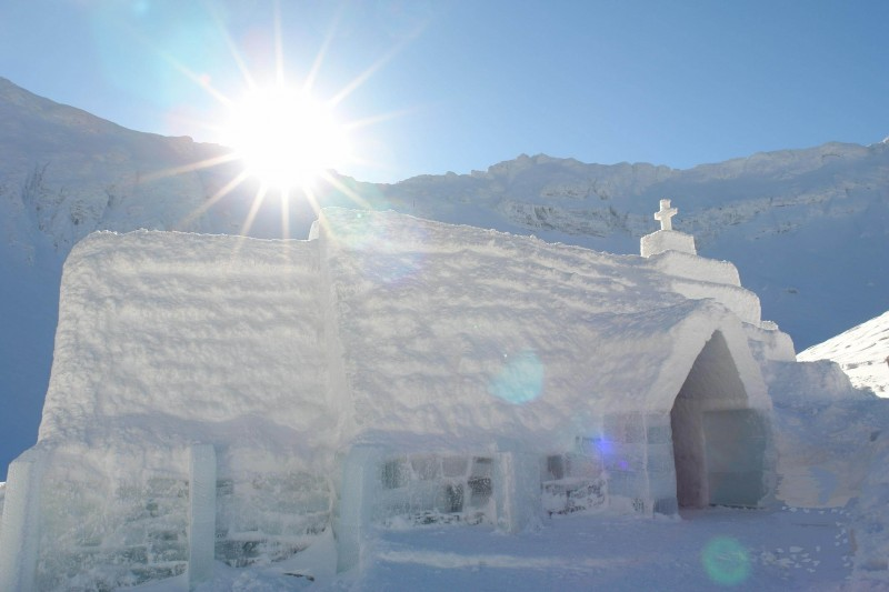 Ice church romania
