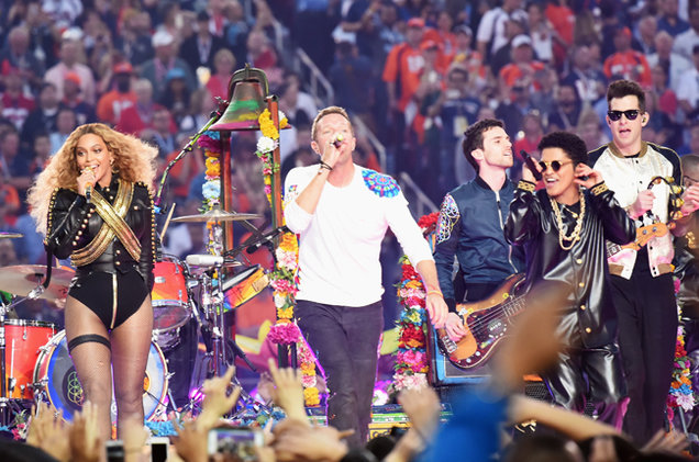 super bowl 50 halftime 18 beyonce bruno mars coldplay 2016 billboard 650