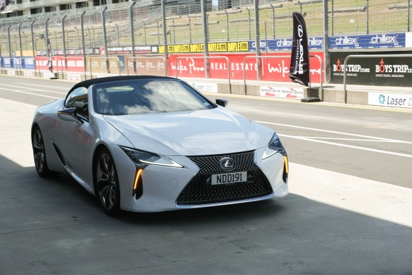 lexus on the racetrack